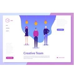 Landing web page concept coworking vector