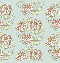 lotus seamless pattern vector image