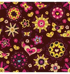 Love pattern vector image