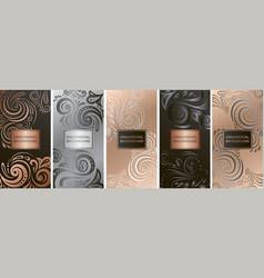 Luxury packaging design chocolate bars vector