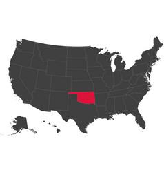 map of usa - oklahoma vector image