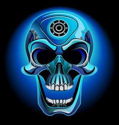 metal skull biker vector image