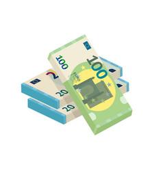 Money heap cash pile flat vector