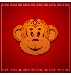 Monkey cartoon as symbol for year 2016 vector image