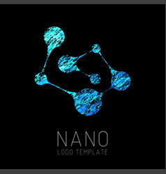 nanotechnology creative logo design vector image