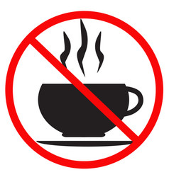 no coffee cup icon on white background flat vector image