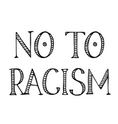 No to racism label vector