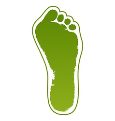 Old man green foot print vector