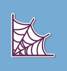 Paper sticker on stylish background spiders web vector