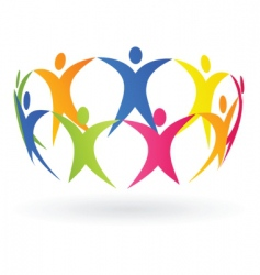 people and cooperation vector image