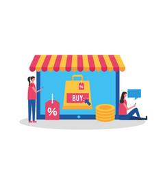 People online buying vector