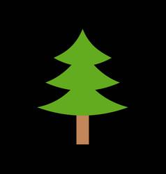 pine tree merry christmas icon set 1 flat design vector image