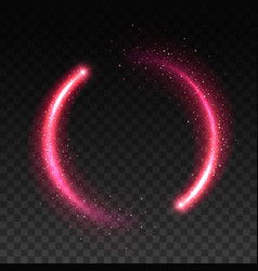 pink sparkle circle realistic star light effect vector image