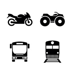 public transport simple related icons vector image