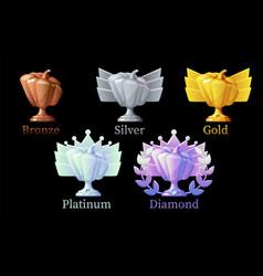pumpkin rewards gold silver platinum bronze vector image