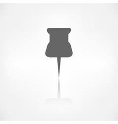 Pushpin web icon vector