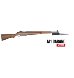 Rifle M1 Garand with knife bayonet vector