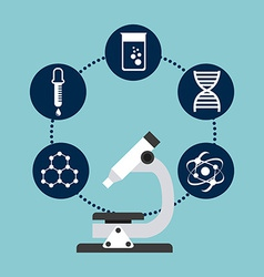 scientific laboratory vector image