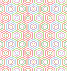 seamless pastel Hexagon pattern background vector image