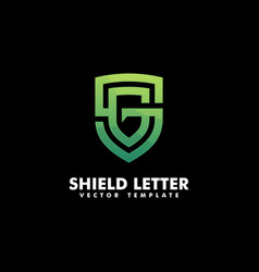 shield letter g concept template vector image