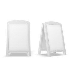 sidewalk display board empty blank white vector image
