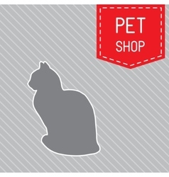 silhouette of a cat poster for veterinary shop or vector image