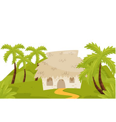 small house in wild jungles natural landscape vector image