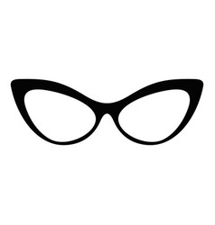 Spectacles without diopters icon simple style vector