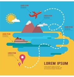 summer holidays infograpics travel around the vector image