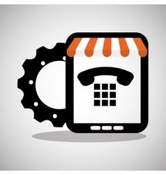 Tablet shop online technology communication vector