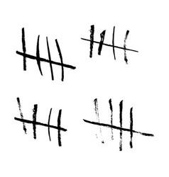 Tally marks vector