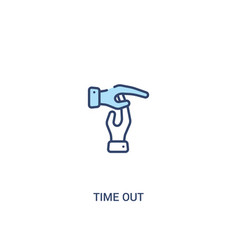 Time out concept 2 colored icon simple line vector