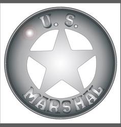 Us marshal badge vector
