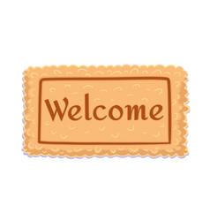 Welcome flat doormat for decoration design vector