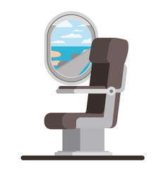 Window airplane with chair vector