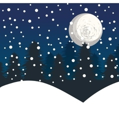 winter landscape background vector image