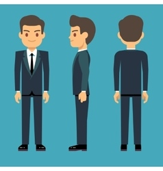 young person man in three points of view vector image
