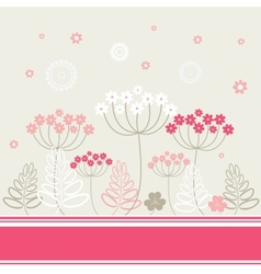 Garden flowers and herbs background vector image