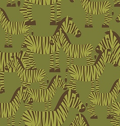 Military camouflage background zebra Wild Beasts vector image