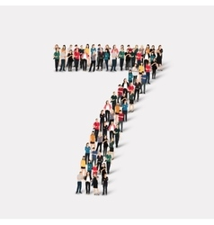 people form number seven vector image