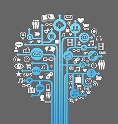 Social media concept tree vector image vector image