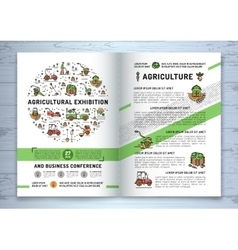 Agricultural Exhibition business brochure design vector image vector image