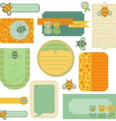 baby scrap with bee vector image vector image