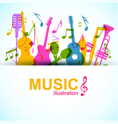 music graphic template vector image