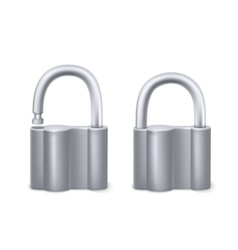 Padlocks isolated on white vector image