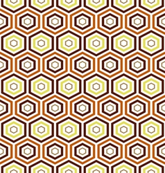 seamless earth tone Hexagon pattern background vector image vector image