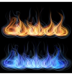 Tongues of flame vector image vector image
