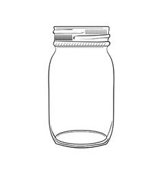 hand drawn doodle jar vector image vector image