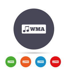 wma music format sign icon musical symbol vector image
