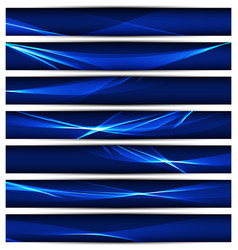 banners template with wavy background vector image